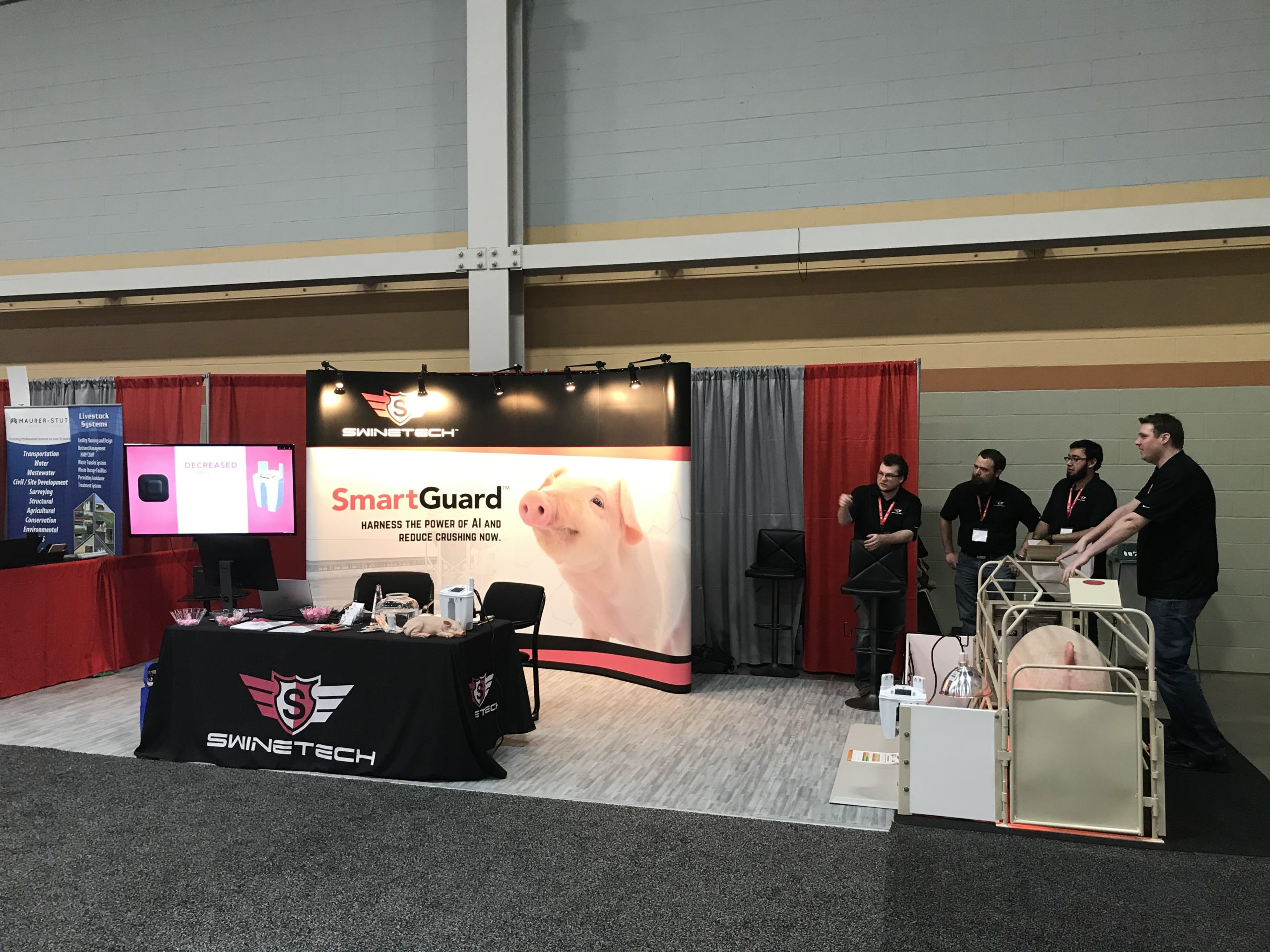 SwineTech booth at a pork industry event